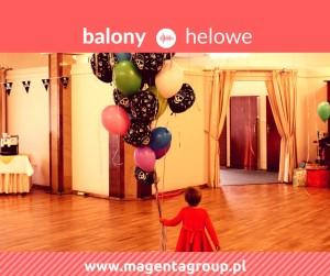 balony helowe magenta