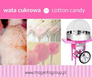 wata cukrowa_cotton candy_maszyna do waty cukrowej_magenta group_kraków_urodziny_animacje_słodki stół_agencja eventowa_event_piknik_kraków